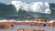 Waves Breaking On A Reef