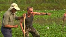 Anaconda With Human Tracker Just Above