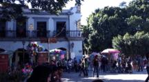 Pan From Hotel To Cathedral In Oaxaca Plaza Central