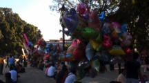 Park Scene, Colorful Balloons, Oaxaca, Mexico