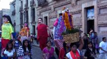 Parade Of Giants, Costumes On Stilts--Oaxaca, Mexico