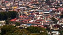 Zoom Of Church, Pullback To Wide Overlook Of Oaxaca