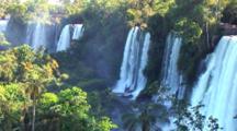 Pullback, Pan, Zm Waterfalls, Cataratas Iguazu, Brazil, Arg.
