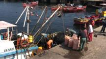 Commercial Fishing Boat Prepares For Trip Offshore--Antofagasta, Chile