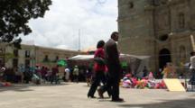 Plaza Central, Oaxaca, Mx, People Walking Thru