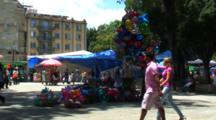 Plaza Central, Oaxaca, Mx, People Enjoying Park