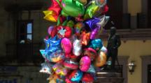 Plaza Central, Oaxaca, Mx, Zoom, Pullback Colorful Balloons