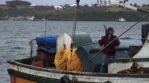 Kelp Fishing Boat With Divers Air Hose, Compressor Visabel
