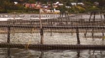 Salmon Farm Pens Near Pto. Montt, Chile