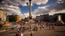Time Lapse, People At Trafalgar Square, London
