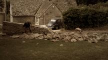 Traditional Dry Stone Walling In Gloucestershire.