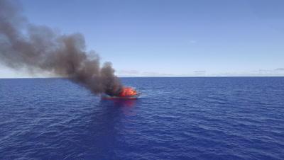 Intro to illegal fishing boat burning