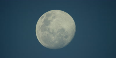 Full Moon in clear blue sky,supermoon