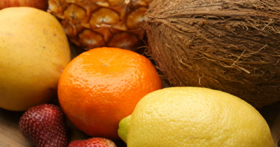 Assortment of fresh natural organic sweet fruit with a mix of colors. Fruit is a great source of vitamins and is part of a healthy diet. Eating fruit should be part of daily shopping list.