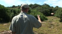 Game Warden Approaches Rhino, Poached Alive, Horns Removed