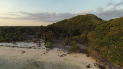 Sunset in Gili Trawangan, Lombok, aerial shot