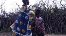 Masai Villagers Singing And Dancing At Compound