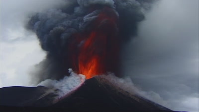 Eruption, Etna - Italy