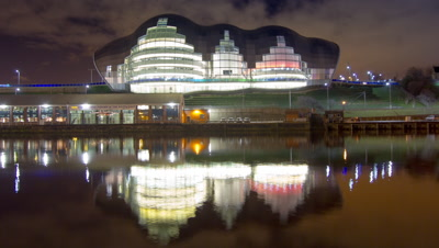 Front facing shot of The Sage music hall in Gateshead.