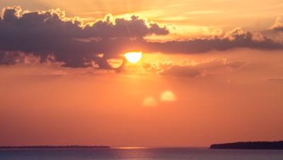 Sun sets over Rio Negro
