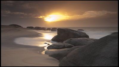 Beach Sunrise in Yala national Park, Sri Lanka