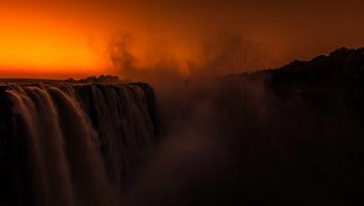 Dawn, Cataract Island, Main Falls, Victoria Falls