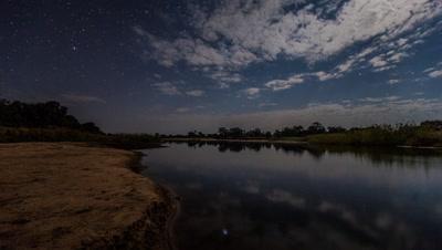 Night scape Luangwa river