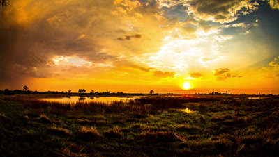Over cast Sunrise, Okavango Delta