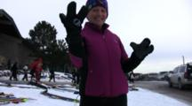 American Birkebeiner, Racer Showing Special Gear, Warm Lobster Claw Gloves