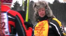 American Birkebeiner, Race Official Helping Skiers Enter Starting Gate
