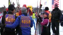 American Birkebeiner, Skiers Entering Starting Area