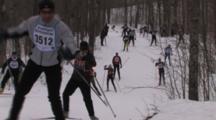American Birkebeiner, Skier Comes Toward Camera, Waves As He Passes