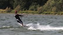 Kite Boarding, Lake Michigan, Heading Toward Shore