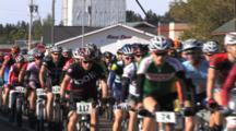 Fat Tire Mountain Bike Race, Start Of The Race, Pilot Cars, Atv, Leading Riders Onto Course