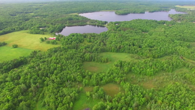 Northern Hardwood Forest, Lakes and Farm