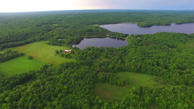 Northern Hardwood Forest, Lakes and Farm, Approach