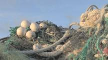 Mounds Of Washed Up Rubbish And Discarded Nets On Beach Near Laysan Albatross Colony. Conservation Story - Rubbish. Midway Island. Pacific