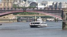 Tourist River Boat On Thames. London. Uk. June 2007