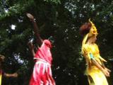 Carnival Dancers On Stilts. Havana Cuba