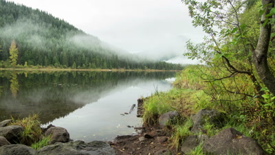 Trillium Lake with Mt. Hood in the Fog