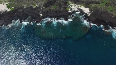 4k Aerial of the Kona Coast on the Big Island Hawaii